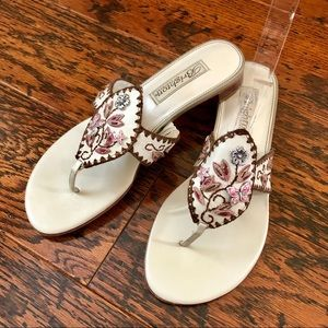 Brighton Whimsy Butterfly Leather Sandals or Thong